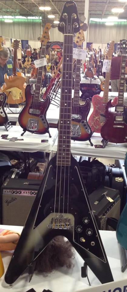 '82 Gibson V-Bass in silverburst at Lakeshore Guitars.