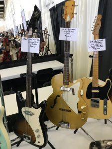 A couple cool Kay basses and a Tele