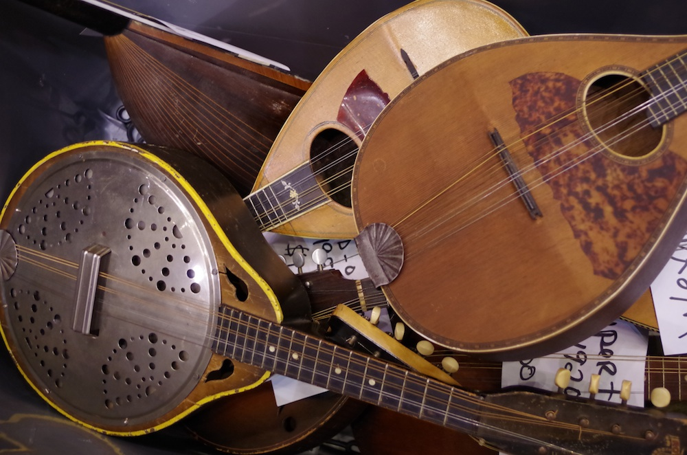 A mess of mandolins.
