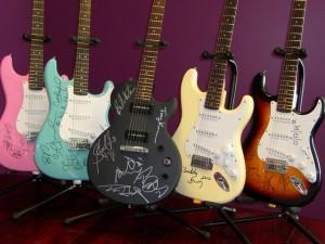 AAAF signed guitars