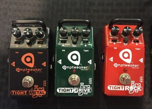 New for #NAMM2016: The Amptweaker JR Series distortion pedals, featuring TightMetal JR, TightRock JR, and TightDrive JR!