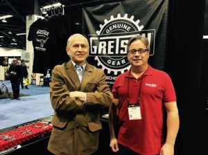 #VintageGuitar publisher Alan Greenwood spent his last day at #NAMM2015 with an old friend, Fred Gretsch, of Gretsch Guitars fame. Did you make it over to the Gretschgear.com booth during the #NAMMshow? #guitarlove #guitars #NAMM15 #NAMM