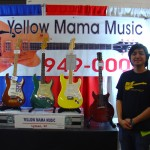 Art Tushamon in his Yellow Mama Music booth.