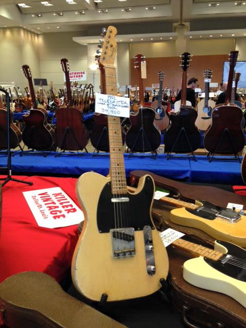 1952 Fender Telecaster from Austin Vintage, at the Guitarlington  Guitar Show in, Arlington TX. — with Fender.