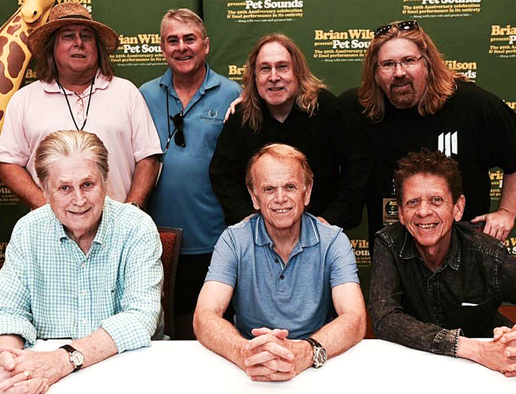 My brothers and I got our photo taken with a Brian Wilson, Al Jardine and Blondie Chaplin this Summer during Brian Wilson's 'Pet Sound Tour.' Would this be good to use?