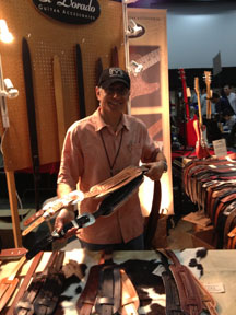 Bill Silverman of El Dorado Straps at the Orange Country Guitar Show.