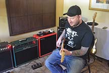 Bluesman Josh Smith Jamming at Red Plate Amps.