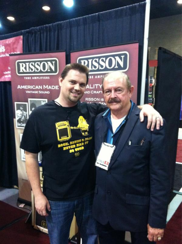 Bob Rissi and his son Steven showing off the new Risson Marvell 18E amp.