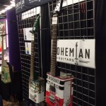 A little metal art at the Bohemian Guitars booth.