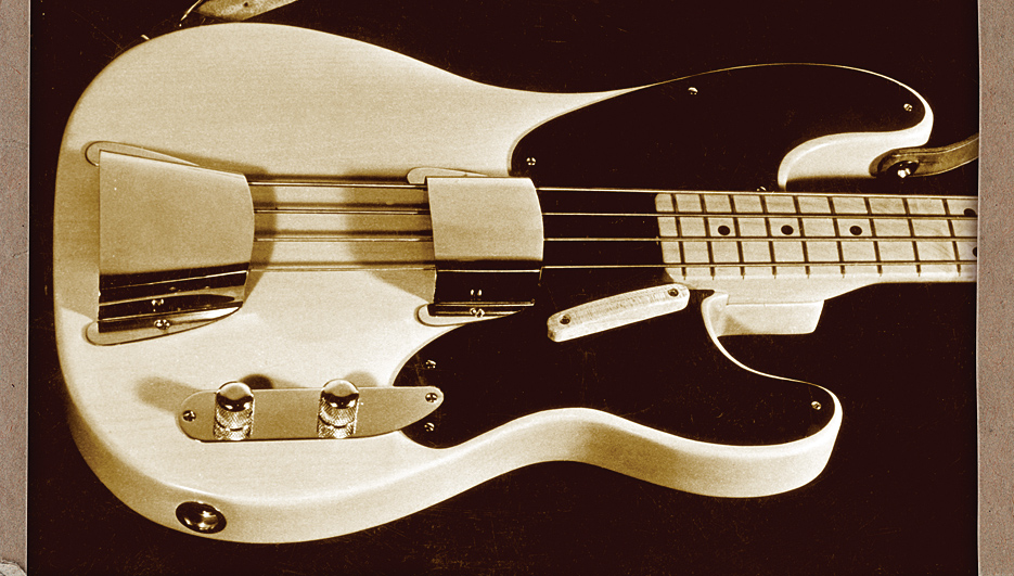 Leo Fender, who was an avid photographer, shot this portrait of the Precision Bass he gave to Jack McClure.