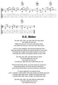 Tom Feldman C.C. Rider Lesson 5 Tab B
