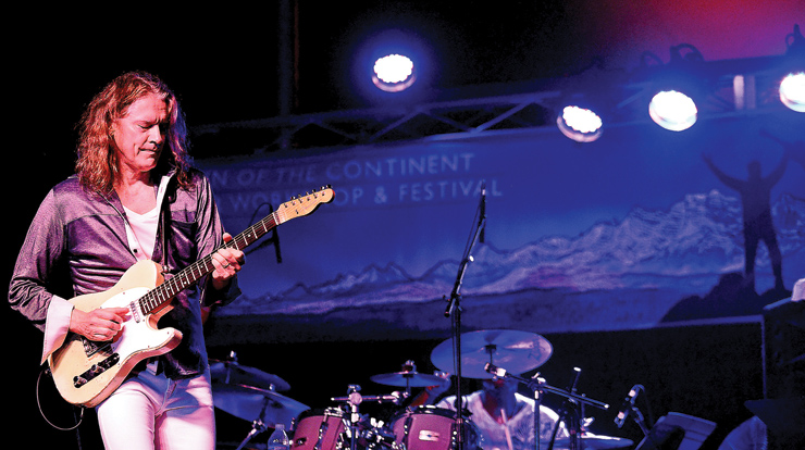 Robben Ford onstage at Crown of the Continent Festival. Photos: BrendaAhearn.