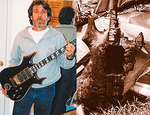 Steve Cripe. The guitar that was to be called Masterpiece, after the deadly fire in Steve Cripes' workshop.
