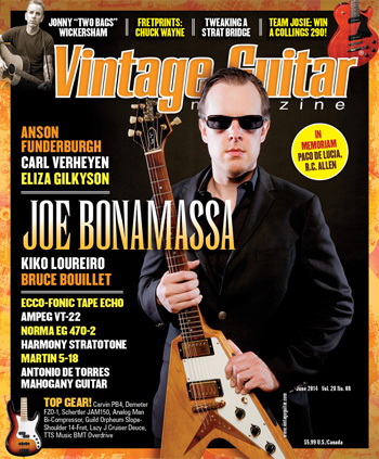 Vintage Guitar Magazine June 2014 Joe Bonamassa Anson Funderburgh