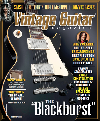Vintage Guitar magazine December 2014