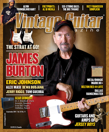Vintage Guitar magazine September 2014
