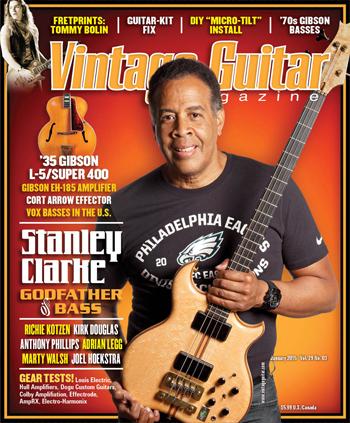 Vintage Guitar magazine January 2015 Stanley Clarke