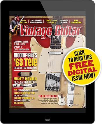 Vintage Guitar magazine digital October 2015 Bloomfield's Telecaster 1963