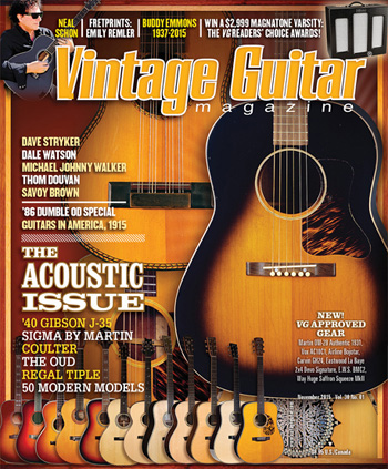 Vintage guitar Magazine November 2015 Acoustic Issue