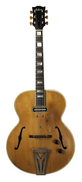 This Gibson ES-250, which once belonged to jazz great Charlie Christian, is set for display at the Eiteljorg Museum. Photo courtesy of Lynn Wheelwright.