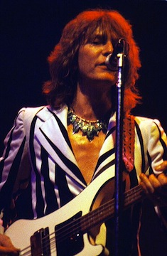Chris Squire in 1978. Photo: Rick Dikeman.