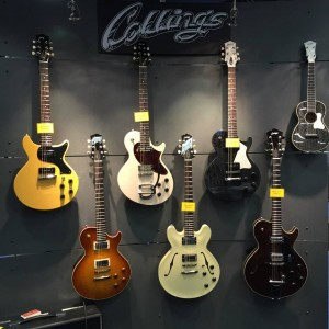 Feast your eyes on these Collings Guitars and Mandolins, including the not-yet-released Ash #guitar! Isn't she a beauty (second from left)?#vintageguitar#NAMM15 #NAMM2015 #NAMM #NAMMshow#collingsguitars #guitars