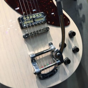 A closer look at the not-yet-released Ash #guitar fromCollings Guitars and Mandolins. Complete with#Bigsby Original Kalamazoo. Are you ready to play?#vintageguitar #NAMM15 #NAMM2015 #NAMM#NAMMshow #collingsguitars #guitars — in Anaheim, California.