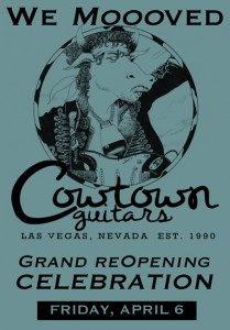 Cowtown Guitars hosts grand (re)opening at its new store in Las Vegas.