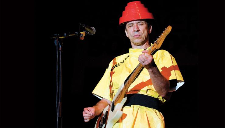 Devo's Bob Mothersbaugh.  Bob Mothersbaugh: LivePict.com.