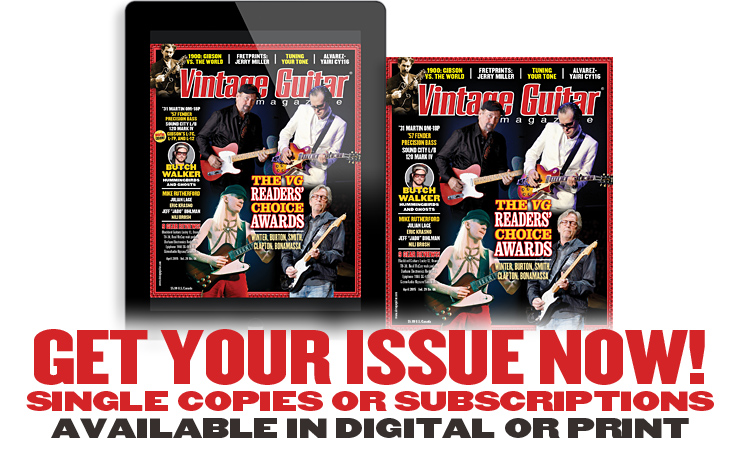Vintage Guitar magazine April 2015 Readers' Choice awards
