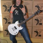 Super guitarist Phil X demonstrated the new Evil Robot amp with a full compliment of blistering guitar work.