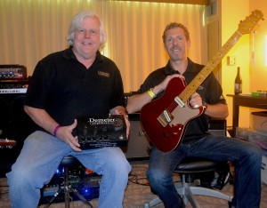 James Demeter, Demeter Amplification (left), with Bill Asher, of Asher Guitars.