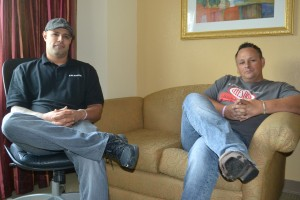 L-R John Sanchez and Rick Skillman of Celestion Speakers.