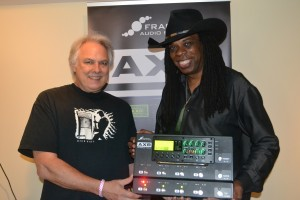 L-R Steve Conrad and Larry Mitchell at Fractal Audio Systems.
