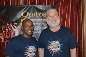 L-R Jairo Skeen and Pat Quilter of Quilter Performance Amplification.