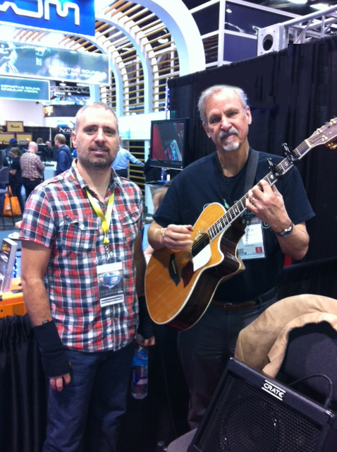 David Chiapetta of String Cleaner and Peter Einhorn of Spider Capo.