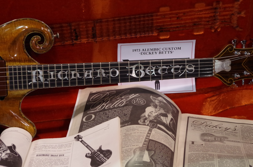 Dickie Betts 73 Alembic (and the VG feature on both!) at Rumble Seat Music.