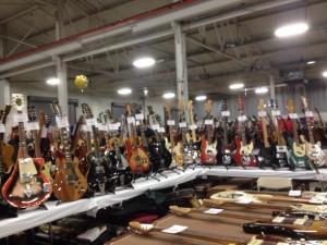 Display at Southside Guitars.