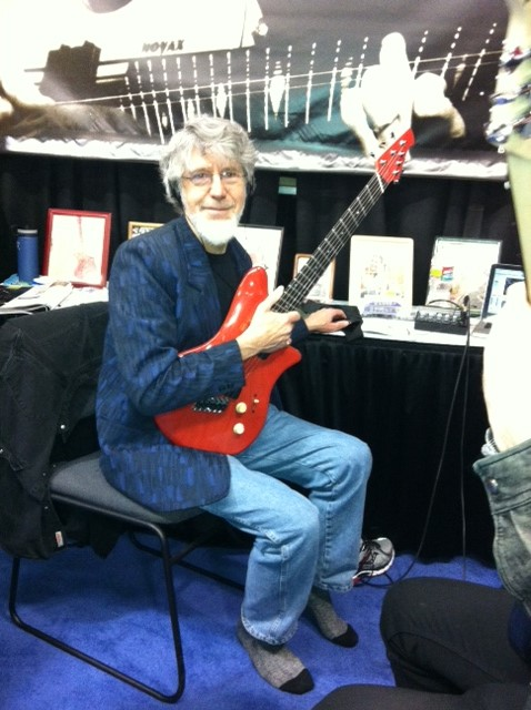 Don Latarski at the Novax Guitar booth.