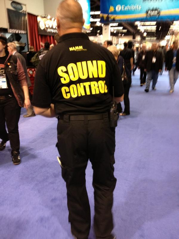 Don't be too loud or the sound police will come for you.