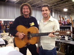 Drew Berlin and Galen Criscione with a rare early Zemaitis 12-string acoustic.