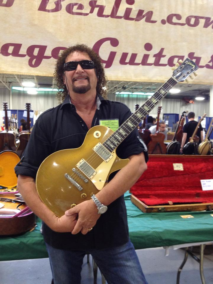 Drew Berlin with a 1957 Les Paul Goldtop.