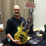 Ed Klein and his model x2-290 E-Klein guitar