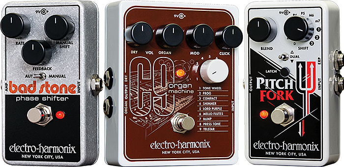 ehx 39 s bad stone phase shifter c9 organ machine and pitch fork polyphonic pitch shifter. Black Bedroom Furniture Sets. Home Design Ideas