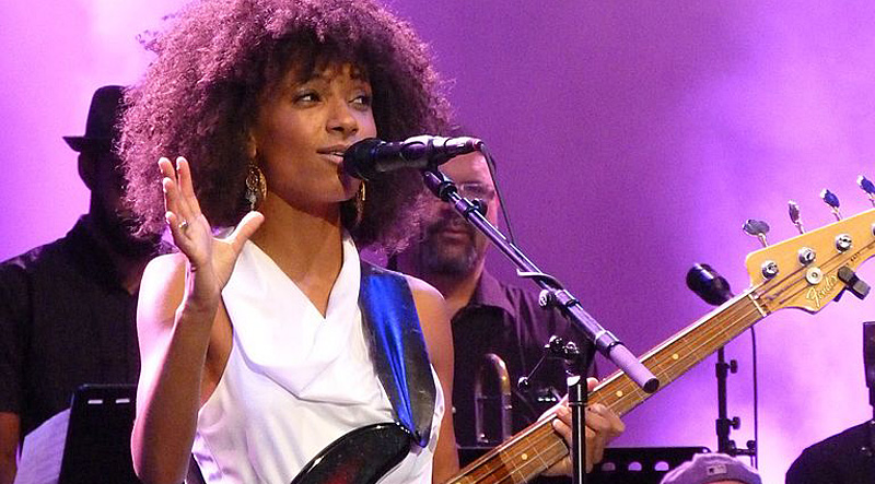 Jazz singer and bassist Esperanza Spalding performing at the North Sea Jazz festival 2012 in Rotterdam, The Netherlands. Photo: JBreeschoten/Wikimedia.