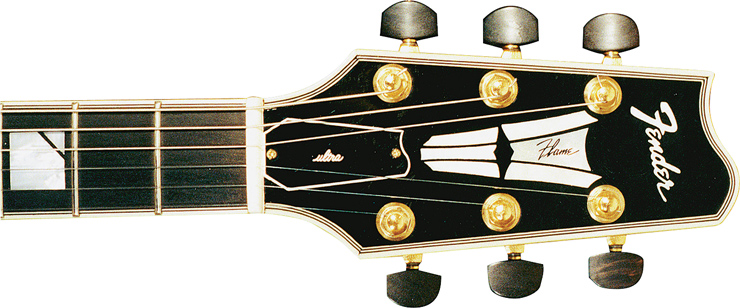 Headstock of Flame Ultra SN 40400920.