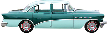 This '56 Buick exhibits a combination of Foam Green and (darker) Laurel Green.