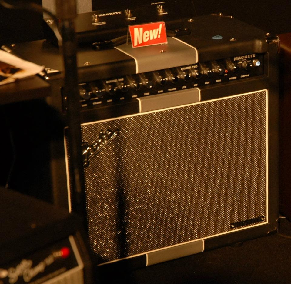 Fender Machete; 50-watt, dual-channel, high-gain, with onboard digital reverb.