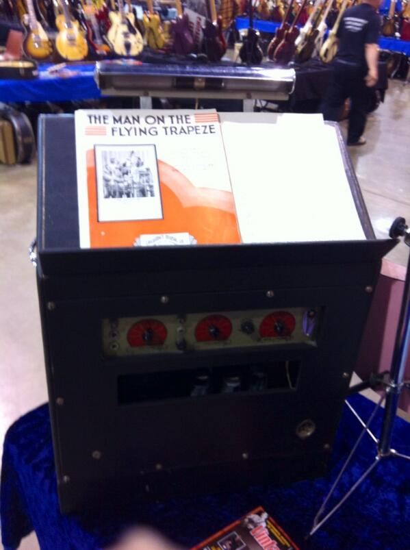 1958 Flot-A-Tone music stand amp at the Rockohaulix booth- back.