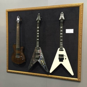 The Wolf Hoffman Signature #guitar from #Framus: Like art. #VintageGuitar #NAMM15 #NAMM2015 #guitarlove — in Anaheim, California.